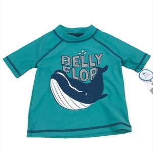 Carter's Belly Flop Whale Swim Top Blue, 18 Months